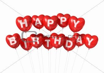 Happy Birthday, Heart Love Red Happy Birthday heart shape