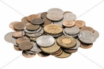 Small pile of Taiwanese coins