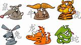 six chinese zodiac signs