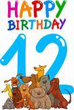 twelfth birthday anniversary design