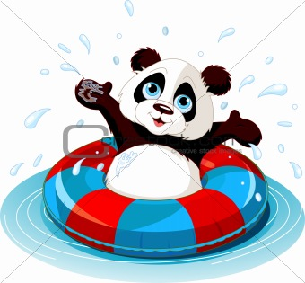 Summer fun Panda