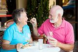 Stock Photo of Senior Couple on Date