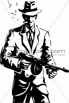 drawing - the gangster - a mafia
