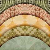 vector floral patterns, vintage retro style