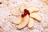 Photo: Decoration On Top Of Apple Cake