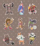 animal sport player stickers