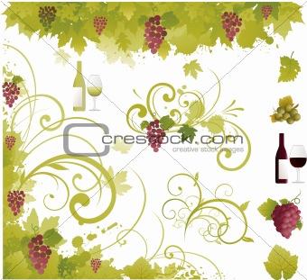Wine decorative elements