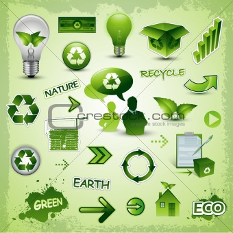 Environment and nature icons and symbols