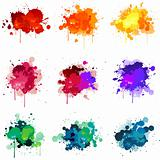 Paint splat illustrations