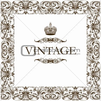 Vintage frame decor ornament