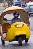 Taxi scooter egg shaped