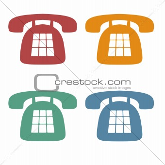 Retro Phone Icons