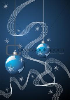 Christmas blue theme