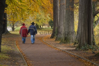 couple walking in nature