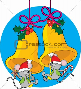 Christmas Bell Mice