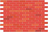 Wall from a red brick. A background.