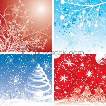Christmas winter backgrounds, vector