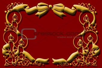 Christmas Candle Frame