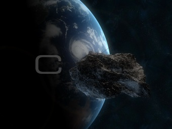 Asteroid infront of the earth