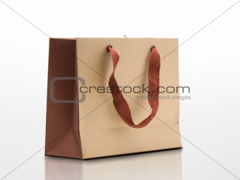 ecological shopping bag with recycled kraft paper