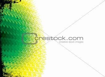 paint daubs green