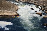 Extremal foldboating at a falls.