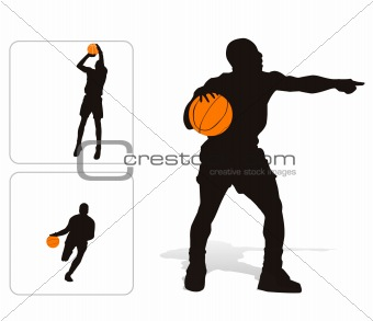Basket player illustration