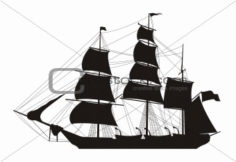 Vector sailing ship