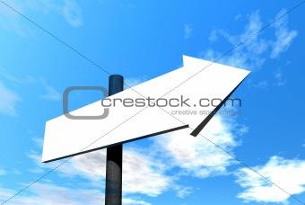 Blank signpost