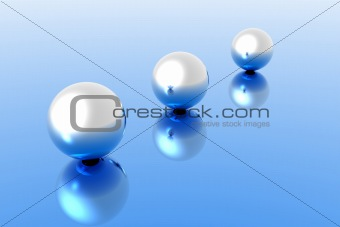 chromed spheres