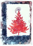 Xmas tree illustration