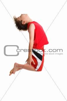 jumping active boy
