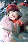 Winter portrait of girl