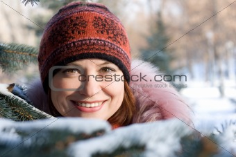 Winter portrait of girl
