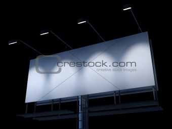 blank sign at night