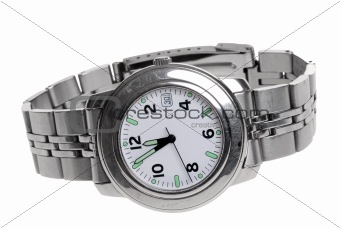Mans stainless steel wrist watch