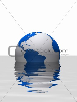 sinking globe
