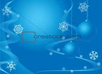Christmas. Greeting card. Blue.