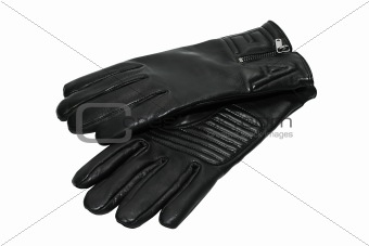 Black man's gloves