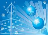 Christmas background. Blue.