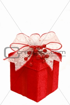Red Bow on Christmas Box