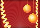 Christmas background. Gold and red.