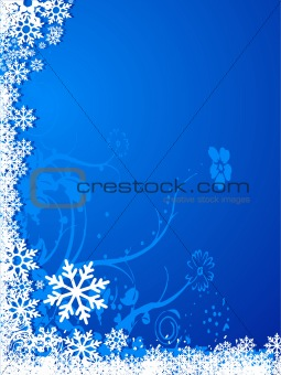 Abstract vector snowflakes background