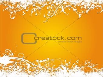 grunge orange vector illustration background