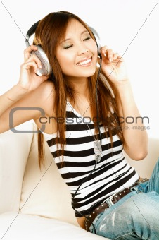 Listening to the music