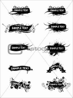 Abstract black sample text background