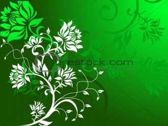 Background of floral vector design