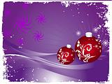 Vector christmas bulbs with snowflakes on blue background