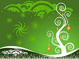 Wallpaper vector Christmas theme with tree
