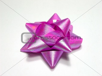 Bow in light purple color